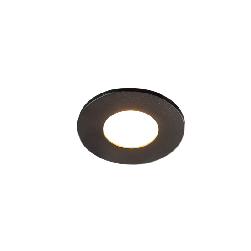 Black porch lighting Dico, IP65, dimmable