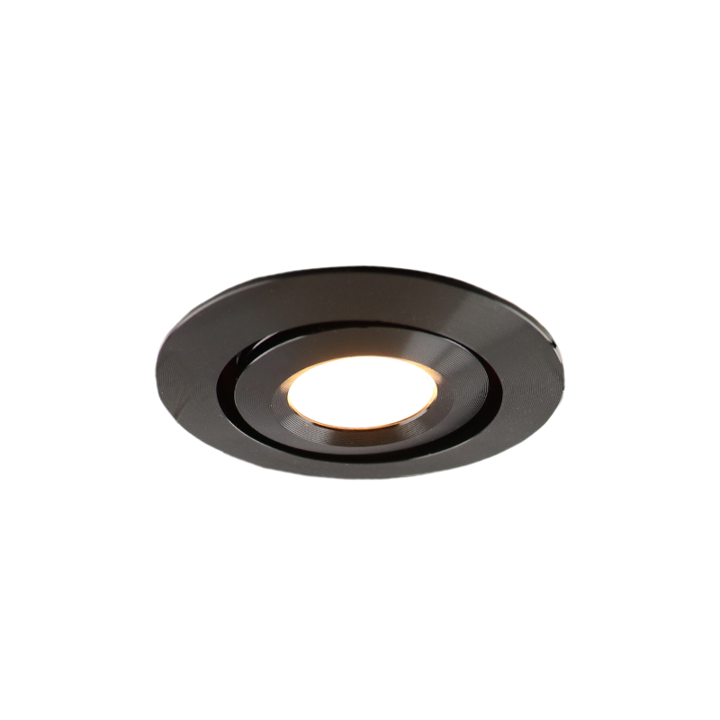 Rona tiltable porch recessed spot, IP65, dimmable, black
