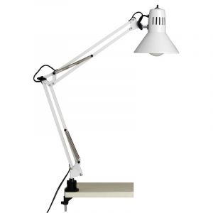 White Desk lamp Katey, Metal, On/off switch on the product