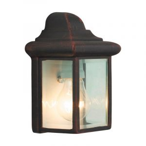 Rust Coloured Outdoor wall light Abbigail, Metal, IP23