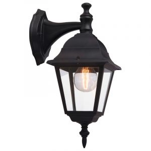 Classic Outdoor wall light Adelyn, Black, Metal, IP23