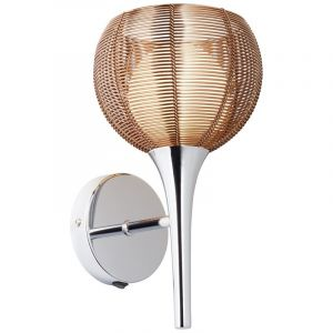 Modern Wall light Lize, Bronze, Metal, On/off switch on the product