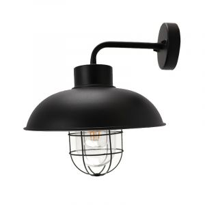 Country Outdoor wall light Jaymie, Black, Metal, IP44