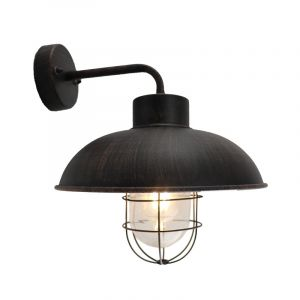 Country Outdoor wall light Jaymiley, Rust coloured, Metal, IP44