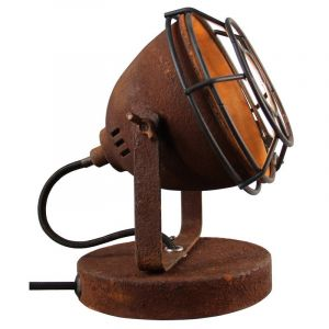 Industrial Table lamp Adie, Rust coloured, Metal, On/off switch on the cord