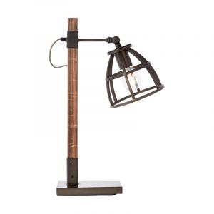 Industrial Table lamp Amy, Black, Metal, On/off switch on the cord