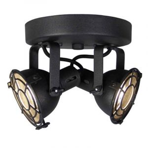 Country Ceiling light Alexi, Black, Metal