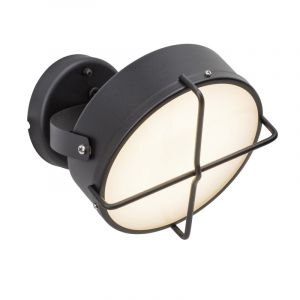 Country Outdoor wall light Jaylien, Anthracite, Polyester, 10W 3000K (Warm white) integrated LED