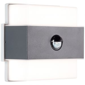 Modern Outdoor wall light with motion sensor Birol, Anthracite, Metal, 7,5W 4000K (White) integrated LED