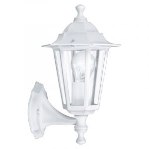 White Outdoor wall light Amaanah, Glass, Country, IP44