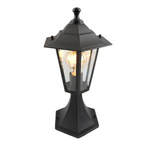 Black Outdoor floor lamp Ani, Glass, Country, IP44