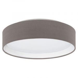 Anthracite Ceiling lamp Welmoed, Fabric, 12W 3000K (Warm white) integrated LED