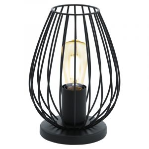 Black Table lamp Kitana, Metal, Modern, On/off switch on the cord