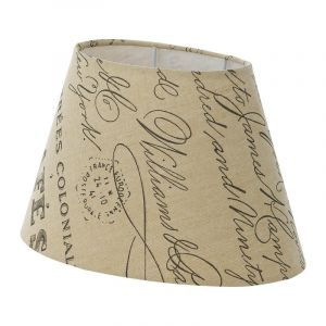 Beige Lampshade Noah, Fabric, Country