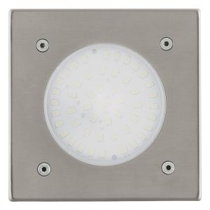 Silver Ground spot Lima, Glass, 3W 3000K (Warm white) integrated LED