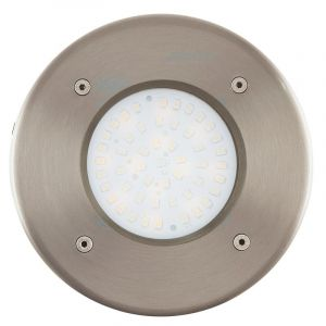 Silver Ground spot Lincy, Glass, 3W 3000K (Warm white) integrated LED