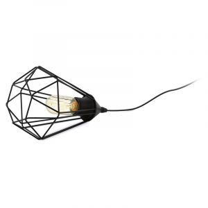Black Table lamp Krisje, Metal, Country, On/off switch on the cord