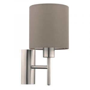 Taupe Wall light Amadou, Fabric, On/off switch on the product