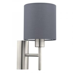 Gray Wall light Amal, Fabric, On/off switch on the product