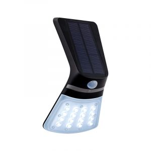Black Modern Outdoor wall light with motion sensor Lydie, Polyester, with adjustable light colour
