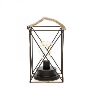 Square Storm Lantern with 9 Leds, on battery