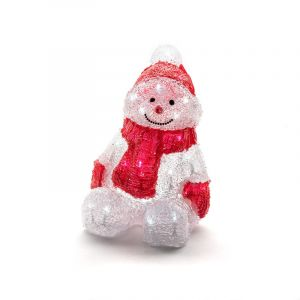 Acrylic LED snowman, with 32 leds, for indoor use