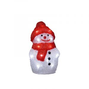 3d Christmas figure Sneeuwpop, Acrylic, Transparent, 3W 4000K (White) integrated LED