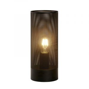 Black Modern Table lamp Beli, Metal, On/off switch on the cord
