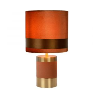 Brown Table lamp Extravaganza Frizzle, Metal, Retro, On/off switch on the cord