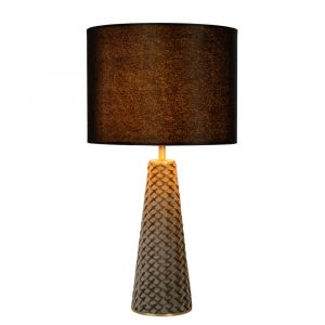 Black Table lamp Extravaganza Velvet, Metal, Retro, On/off switch on the cord