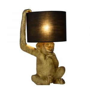 Black Table lamp Extravaganza Chimp, Polyester, Retro, On/off switch on the cord