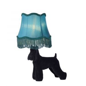 Black Table lamp Extravaganza Filou, Polyester, Retro, On/off switch on the cord