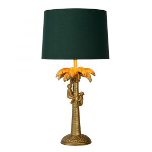 Gold Table lamp Extravaganza Coconut, Polyester, Retro, On/off switch on the cord