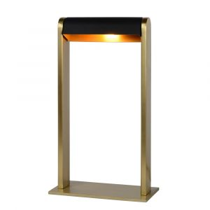 Gold Table lamp Loras, Steel, Modern, On/off touch switch on the cord
