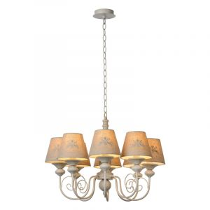 Taupe Chandelier Robin, Metal, Country