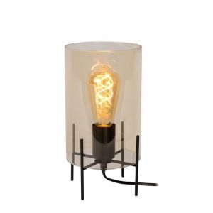 Orange Modern Table lamp Steffie, Glass, On/off switch on the cord