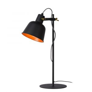 Black Table lamp Pia, Steel, Vintage, On/off switch on the cord