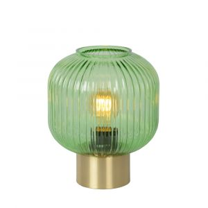 Green Table lamp Maloto, Glass, Retro, On/off switch on the cord