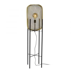 Gold Floor lamp Mesh, Steel, Vintage, On/off switch on the cord