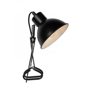 Black Clip lamp Moys, Steel, Retro, On/off switch on the cord