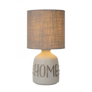 Grey Country Table lamp Cosby, Ceramic, On/off switch on the cord