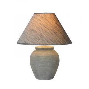 Grey Country Table lamp Ramzi, Ceramic, On/off switch on the cord