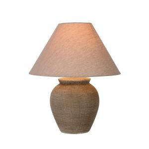 Brown Country Table lamp Ramzi, Ceramic, On/off switch on the cord