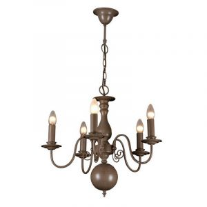 Taupe Classic Chandelier Quincy, Metal