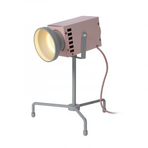 Pink Table lamp Beamer, Steel, Modern, On/off switch on the cord
