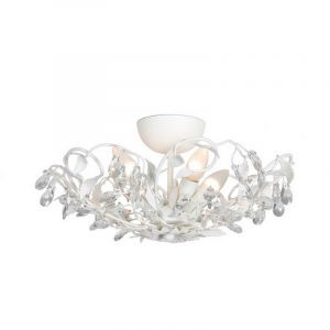 White Classic Ceiling light Sidney 1, Metal