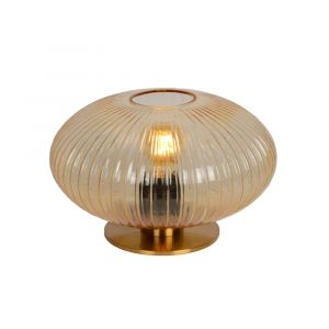 Table lamp Virgil, Glass, Retro, On/off switch on the cord