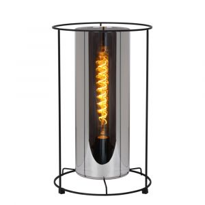 Black Table lamp Dounia, Glass, Classic, On/off switch on the cord