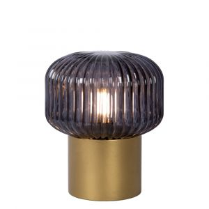 Gold Table lamp Jany, Glass, Retro, On/off switch on the cord