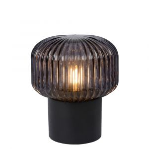 Black Table lamp Jany, Glass, Retro, On/off switch on the cord